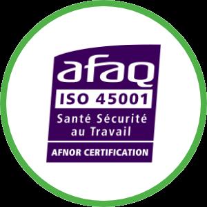 iso 45001 certificat UNIFER Environnement